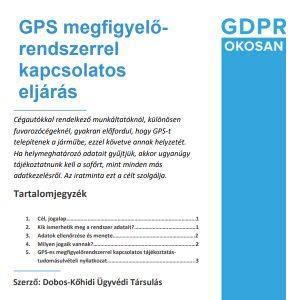 GPS megfigyelőrendszerrel kapcsolatos eljárás