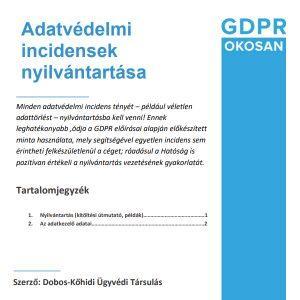 adatvédelmi incidens nyilvántartás
