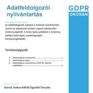 adatfeldolgozói-nyilvántartás