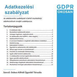 adatkezelési szabályzat