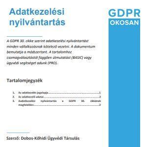 adatkezelési nyilvántartás
