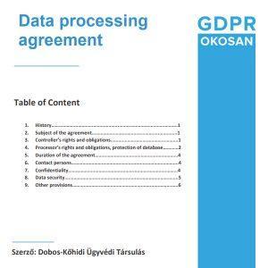 Data Processing Agreement